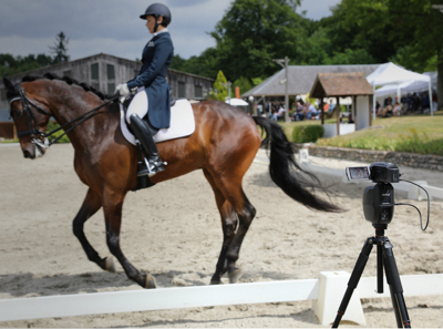 Filming an online dressage test
