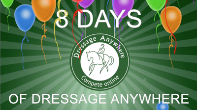 8 days of Dressage Anywhere with balloons