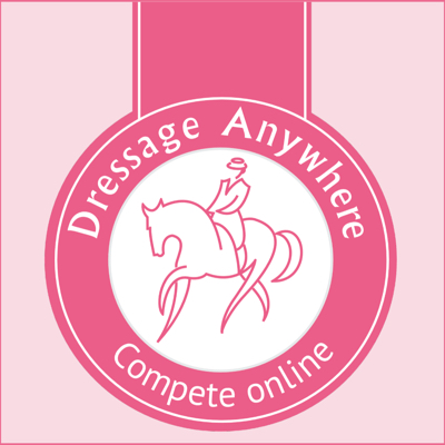Pink Dressage Anywhere logo