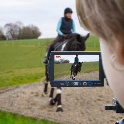 Filming online dressage test