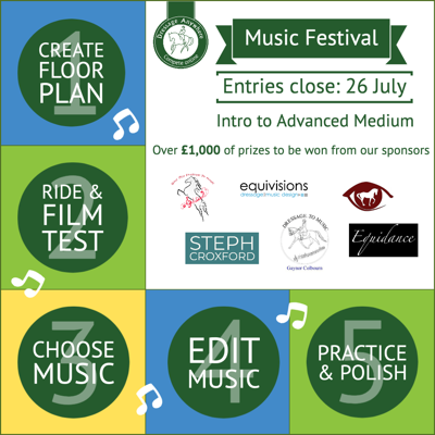 July Online Dressage Music Festival Graphic