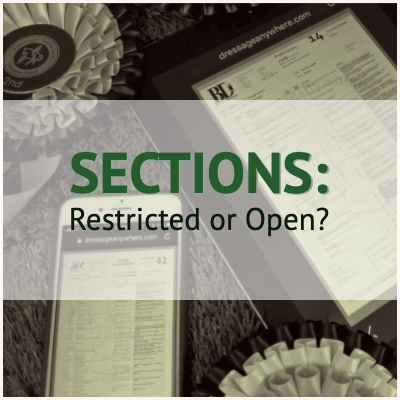 Sections: restricted or open