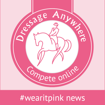 Online dressage logo for wearitpink