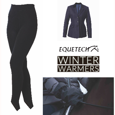 Equetech breeches jacket and hand warmers