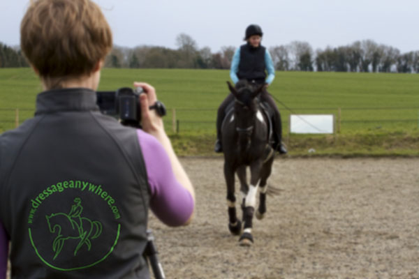 Rider being filmed for Dressage Anywhere entry